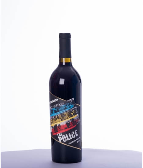 Vin rouge californien - AVA Mendocino - Collection Wines That Rock - The Police Synchronicity